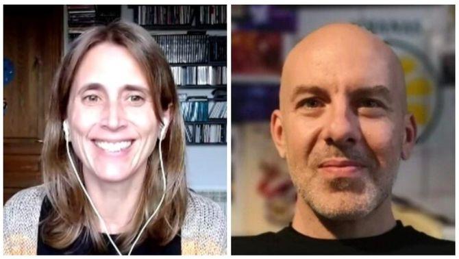 Clara Prats i Àlex Arenas, premiats pels càlculs matemàtics de la Covid