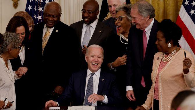 Els Estats Units declaren festiu el 19 de juny per celebrar la fi de l'esclavitud