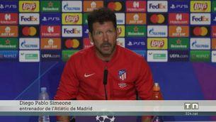 "Simeone esperona Griezmann: ""Volem que sigui el futbolista que sempre va ser"""