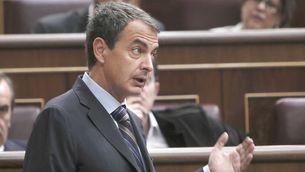 Zapatero intervé en una sessió de control al Congrés dels Diputats. (Foto: EFE)