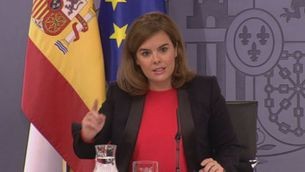"""Sáenz de Santamaría: """"La prudència no és mala companyia. L'hi recordo al president de la Generalitat"""""""