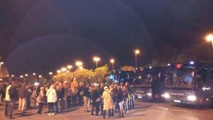 Autobusos en suport a Artur Mas a Girona