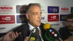 """Tebas: """"Les estelades defensen la destrucció d'Espanya"""""""