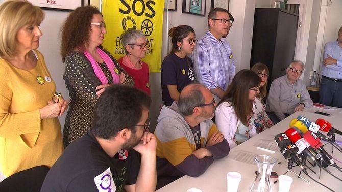 La comunitat educativa es mobilitza contra la ''criminalització'' de l'escola catalana