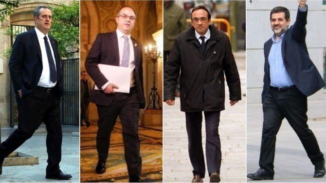 Jordi Sànchez, Jordi Turull, Joaquim Forn i Josep Rull han anunciat aquest dijous que acaben la vaga de fam