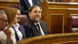 Junqueras, assegut al seu escó al Congrés dels Diputats