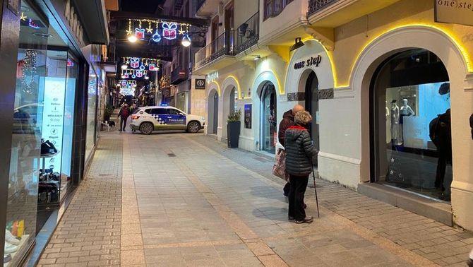 El centre de Puigcerdà aquest dimarts al vespre (Ferran Moreno / TV3)