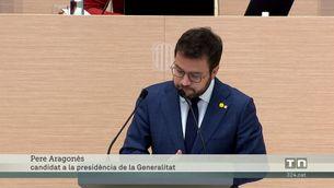 Tots els no independentistes voten en contra d'Aragonès