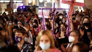 Clam de milers de dones a tot Espanya contra l'escalada d'assassinats masclistes