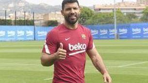 Sergio Agüero ja s'entrena a les instal·lacions del Barça