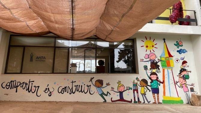 Pati de l'escola Samuntada de Sabadell