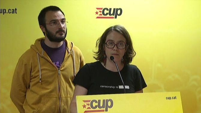 La CUP manté l'esmena a la totalitat als pressupostos