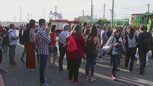 Interrompuda la línia entre Reus i Tarragona amb un tren avariat amb 150 persones