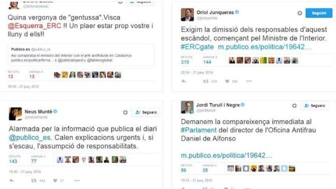 ERC, CDC, la CUP, PSC i En Comú Podem demanen la dimissió de Jorge Fernández Díaz