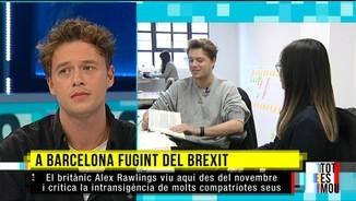 Imatge de:Alex Rawling, a Barcelona fugint del Brexit
