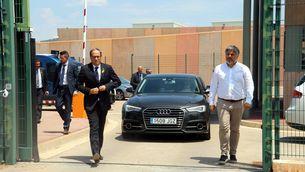 El president de la Generalitat, Quim Torra, el 12 de juliol, després de visitar els presos a Lledoners (ACN)