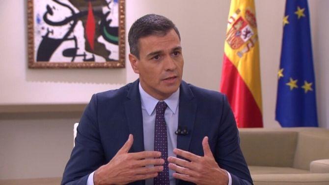 Pedro Sánchez, a l'entrevista a La Sexta, aquest dijous