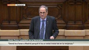 """Torra al debat de política general: """"La lluita contra la Covid és la primera prioritat del govern"""""""