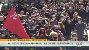 Concentració antifeixista pels carrers de Sant Gervasi