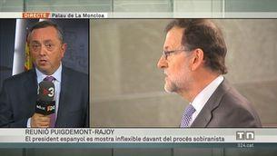 Rajoy es mostra inflexible davant del procés sobiranista