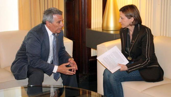 Forcadell ha difós aquesta imatge de la trobada amb José Antonio Vargas