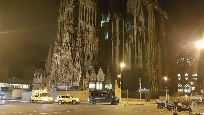 Operació antiterrorista al voltant de la Sagrada Família