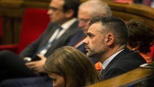 Santi Vila a la sessió del Parlament