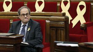 El president Torra al Parlament en la sessió de dimecres 7 de juny (EFE)