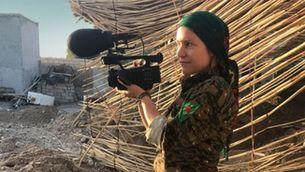 """Alba Sotorra durant el rodatge de """"Comandant Arian"""""""