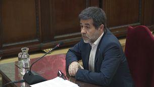 Jordi Sànchez durant l'última paraula al judici al Tribunal Suprem