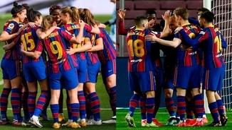 El segell del Barça femení és més blaugrana que el segell del masculí?