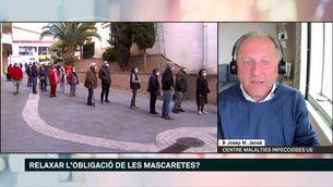 """Josep M. Jansà : """"El relaxament en l'obligatorietat de la mascareta està condicionat pel ritme de vacunació"""""""