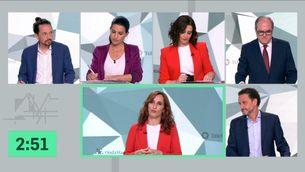 Acció conjunta de l'esquerra contra Díaz Ayuso en el debat electoral