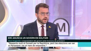 """Pere Aragonès: """"L'estratègia independentista no es pot definir a través del Consell per la República"""""""