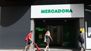 L'entrada d'un supermercat de Mercadona a Madrid