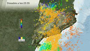 Més de 30.000 llamps a Catalunya
