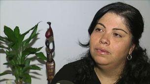 l'Eliana López, fa cinc mesos que no veu la seva filla de quatre anys, i ni tan sols en sap res.