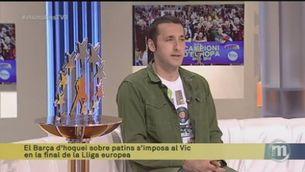 Entrevista a Aitor Egurrola, porter del Barça d'hoquei, que ahir va guanyar la Copa d'Europa