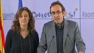 Josep Rull anunciant que la federació de CiU s'ha acabat