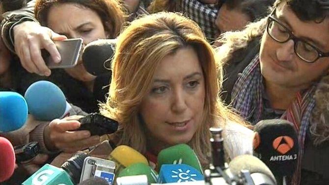 Susana Díaz ha fet declaracions a l'entrada del Comitè Federal