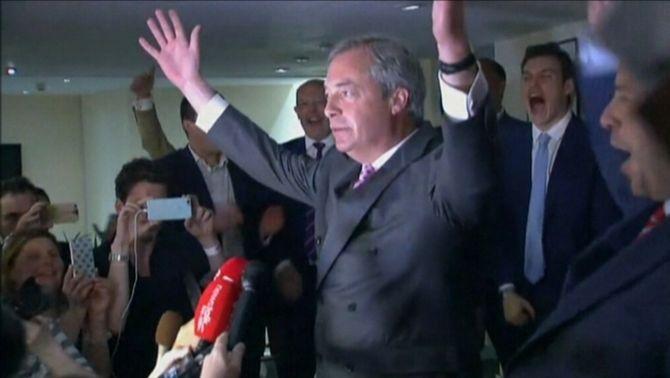 """Farage: """"Que el 23 de juny quedi en la memòria com el dia de la independència"""""""