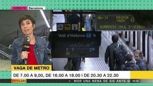 La vaga de metro d'aquest matí