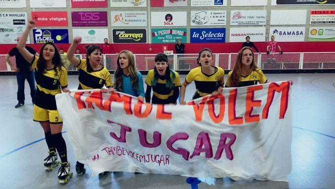 """""""Les de l'hoquei"""" es reivindiquen amb el vídeo viral #TambéVolemJugar"""