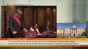 """Joaquim Forn: """"Colau ha comès un gran error en no respectar la llista més votada"""""""