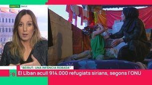 Nens sirians refugiats a Beirut