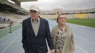 Garrigosa i Maragall, a l'Estadi Olímpic de Barcelona anys després del 1992
