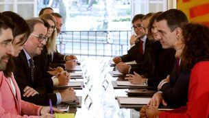 Torra intervé en la primera reunió de la taula de diàleg dels governs català i espanyol (EFE/Chema Moya)