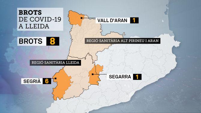 Mapa dels brots de Covid a Lleida, on descarten de moment nous confinaments