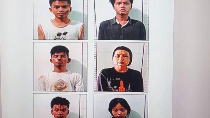 El règim de Birmània mostra fotografies de sis manifestants amb senyals de tortura