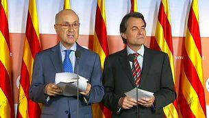 Josep Antoni Duran i Lleida i Artur Mas en una imatge d'arxiu